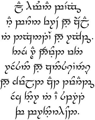 Tengwar Lord Of The Rings Wiki