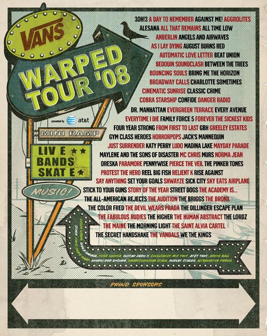 Vans Warped Tour Setlist