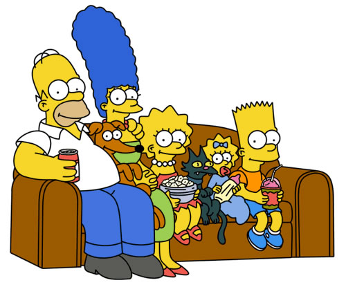 Cartoons from the 90s - the Simpsons