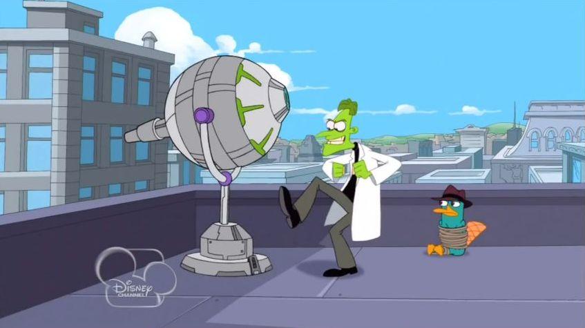 Phineas And Ferb Dr Doofenshmirtz Building Moisture Suck-i...