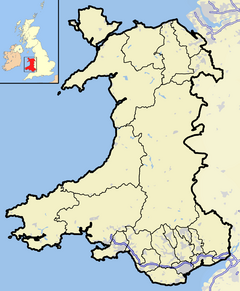 Wales outline map with UK