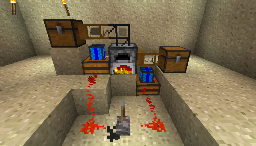 How To Build A Quarry With Redstone Enginesin Minecraft