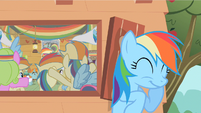 Rainbow Dash giggling S2E8