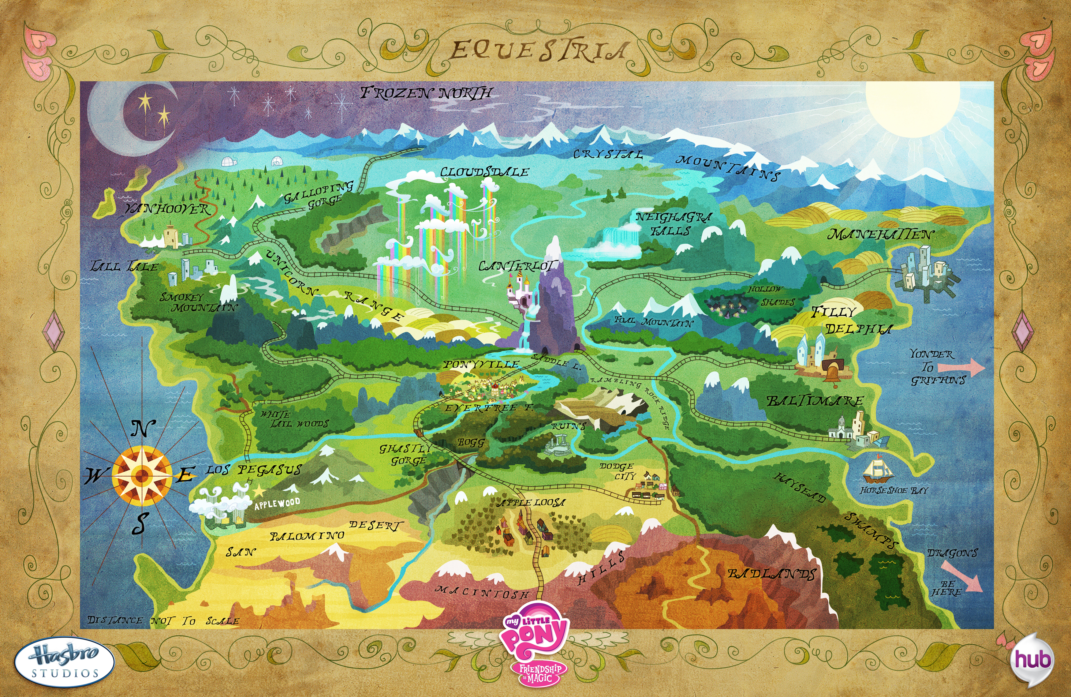 Map/Layout of Equestria : mylittlepony