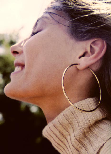 Fantastic Other Sizes Are Available These Thin Reverse Hoop Earrings Are Designed For A