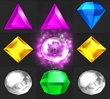 Bejeweled twist locking doom gem