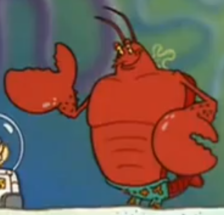 Pics For > Larry The Lobster Lifting Weights