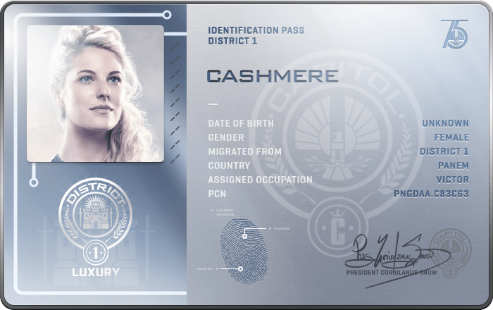 Cashmere - The Hunger Games Wiki