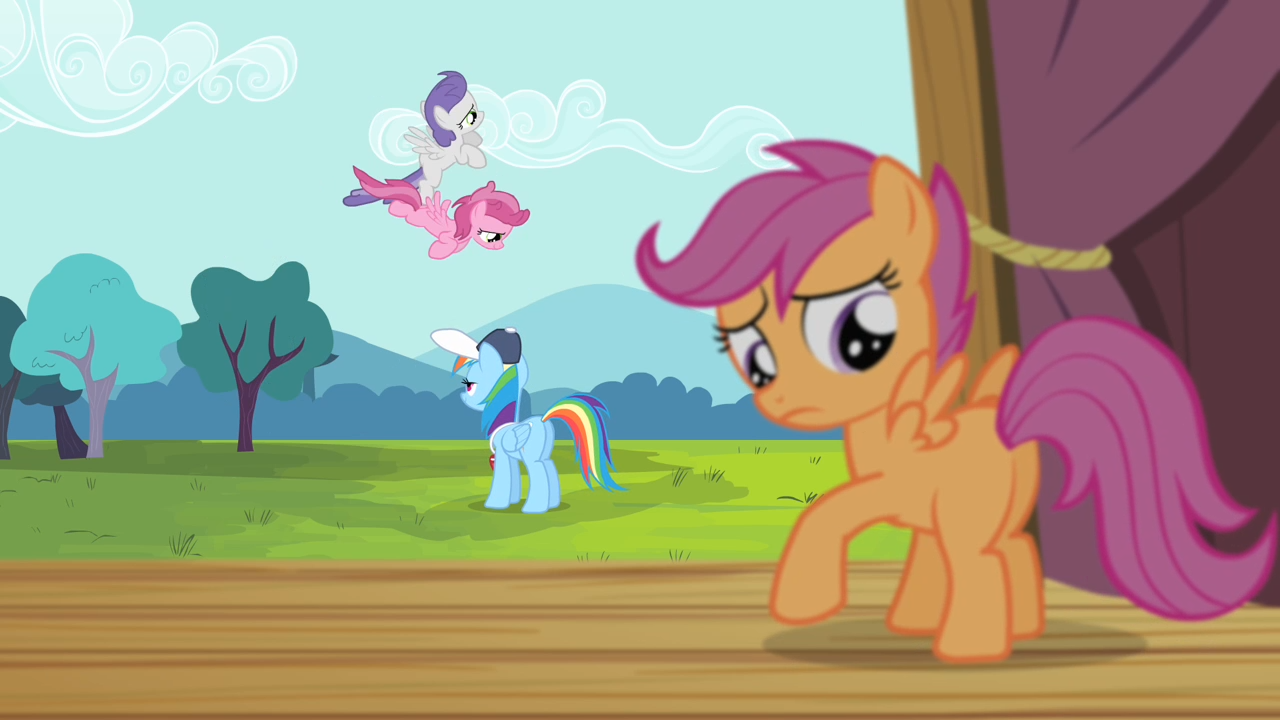 My little pony scootaloo flying