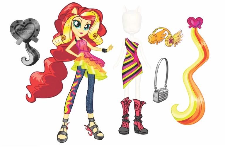 Image - Sunset Shimmer Equestria Girls Rainbow Rocks Fashion Set.jpg ...